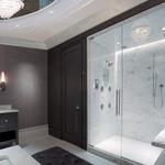 3 Inch Round Flanged Flat Lensed Shower Trim -