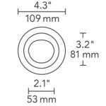 3 Inch Round Flanged Wall Wash Trim -  /