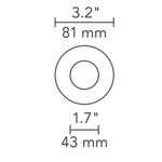 3 Inch Round Flangeless Flat Trim  -  /