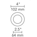 4 Inch Round Flangeless Flat Trim -  /