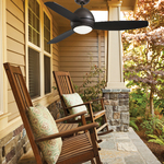 Curva Outdoor Ceiling Fan with Light -