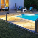Enola C Outdoor Bollard by SLV Lighting