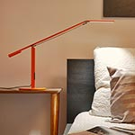 Equo LED Cool White Desk Lamp - Orange /