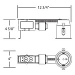 TERE-325 3.25IN MR16 GU5.3 12V Retrofit Remodel Housing -  /