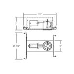 GUI3-00 3IN MR16 GU10 120V IC New Construction Housing -  /