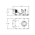 NC04-B 4 Inch MR16 GU5.3 12V Non-IC New Construction Housing -  /