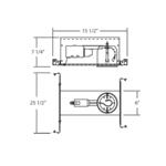 GUI4-00 4 inch MR16 GU10 120V IC New Construction Housing -  /