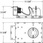 TENC-325 3.25IN MR16 GU5.3 12V Non-IC New Construction - Aluminum /