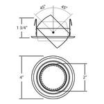 Eyeball Round 3 Inch Trim - Satin Nickel /