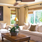 Traditional Concept Indoor / Outdoor Ceiling Fan with Light -