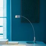 Falena Table Lamp - Chrome / Clear