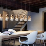 Fedora Linear Multi Light Pendant by Axo Light