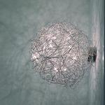Fil de Fer Ovale Wall/Ceiling Light - Aluminum /