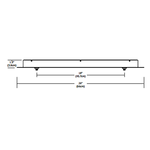 Fast Jack LED Linear 2 Port Canopy -  /