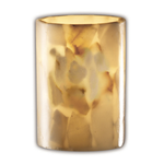Rondo Flat Rim Wall Sconce - Polished Chrome / Alabaster Rocks