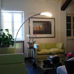 Flora Floor Lamp with Round Base  by Fontana Arte