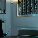 Flute Floor Lamp - Chrome / Transparent