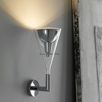 Flute Wall Lamp - Chrome / Transparent