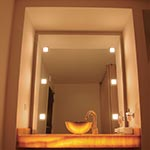 Frame Wall Recessed by Edge Lighting