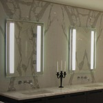 Fusion Lighted Mirror by Electric Mirror