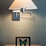 Boring Swing Arm Lamp by George Kovacs