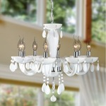 Gatsby 8 Light Chandelier - Chrome / White