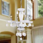 Gatsby 4 Light Chandelier - Chrome / White