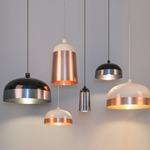 Glaze Wide Pendant - Cream / Copper /