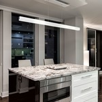 Glide Glass Up/Down Center Feed Linear Pendant -