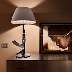 Guns Table Lamp - Chrome/ White /