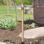 CUL7 Halogen Copper Pathlyte with Mounting Stake - Copper / Frosted