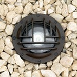 IL116G Inground Uplight with Rock Guard 7W 25Deg - Bronze / Clear