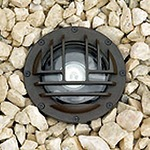 IL116G Inground Uplight with Rock Guard - Bronze / Clear