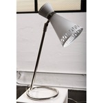 Havana Table Lamp - Polished Nickel / White