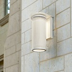 Hive Coastal Outdoor Wall Light - Coastal Satin White / Opal