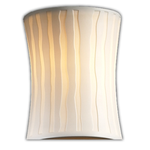 Modular Hourglass Limoges Wall Sconce - Black Nickel / Sawtooth Porcelain