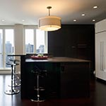 Exos Double Shade Round Pendant by Hubbardton Forge