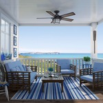 Key Biscayne Outdoor Ceiling Fan with Light -