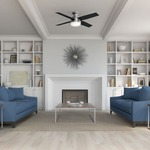 Dempsey Low Profile Ceiling Fan with Light -