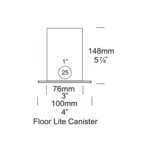 Floor Lite 6 Inch Mounting Canister -  /