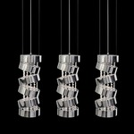 Secret Club Multi Light Suspension with Crystals - Chrome / Crystal