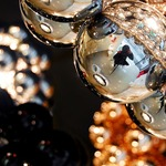 Beads Penta Pendant - Chrome /