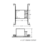 IC1LEDG4 4 In 600 Lumen IC New Construction Housing 120V  -  /