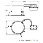 IC922RLEDG4 6 In 900 Lumen IC Remodel Housing 120V -  /