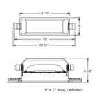 IC115LEDHSG Outdoor LED Step Light Back Housing -  /