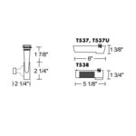 T196 MR16 Open Back Track Fixture 12V -  /
