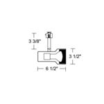 T303 PAR20 Step Cylinder Baffle Track Fixture 120V -  /