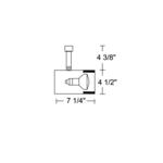T315 PAR30 Flat Back Cylinder Baffle Track Fixture 120V -  /