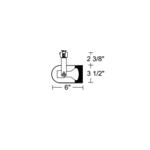 T326 PAR20 Round Back Cylinder Baffle Track Fixture 120V -  /