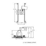 TC18 3 Inch Round Non-IC Housing And Trim -  /